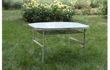KingCamp KC3860 table pliante Aluminium, Folding, Round gris